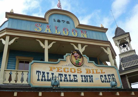 Pecos Bill Cafe Magic Kingdom Menu